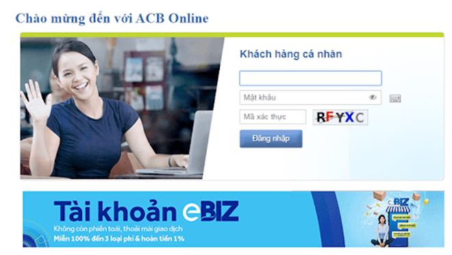 internet banking acb