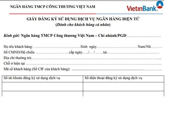 dang ky sms banking vietinbank