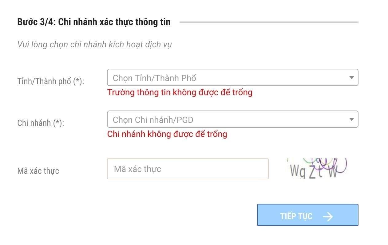 Đăng ký thẻ ATM Mbbank online