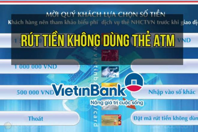 rut tien khong can the atm