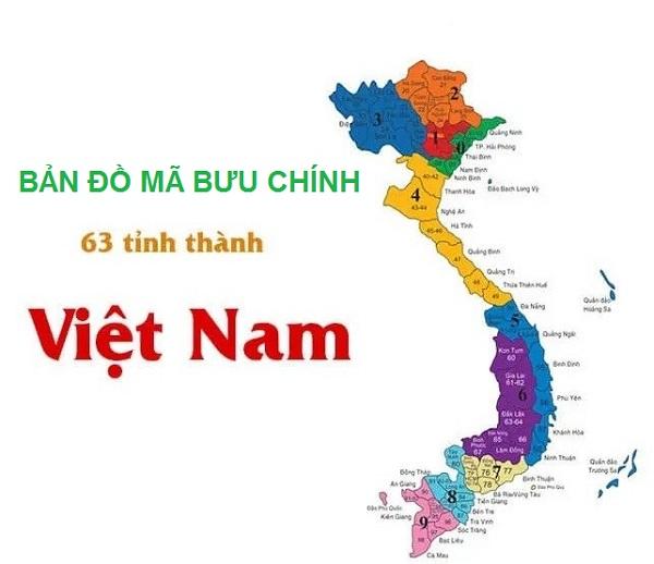 Bản đồ mã bưu chính Việt Nam