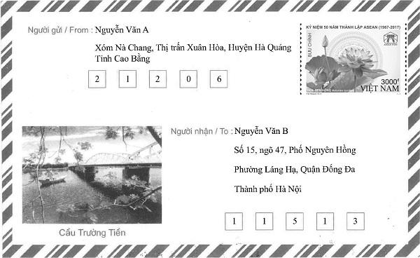 Bao thư trong nước Việt Nam có mã bưu chính
